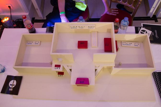 Das 3D-Modell des Kursalons für Sehbehinderte Menschen.